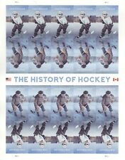 USPS Sheet Stamps The History of Hockey Sports NHL National League Pane MNH 2017