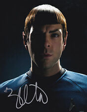 ZACHARY QUINTO STAR TREK SIGNED 8X10 COLOR PHOTO MR. SPOCK
