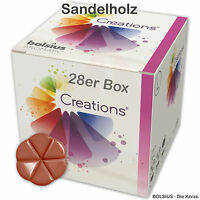 Bolsius Creations 28er Box Sandelholz, Duftmelts, Aromamelts, Duftwachs
