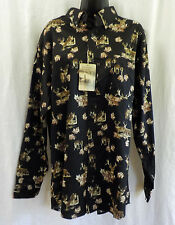 Rugged Earth Men Shirt Size L Nwt Black W Deer 100 Cotton Long Sleeve Ons