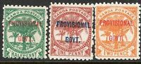 Samoa 1899 Provisional part set perf 11 mint SG90/91/92 (3)