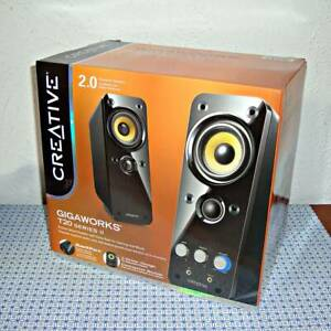 NEW CREATIVE GIGAWORKS T20 SERIES II 2.0 MULTIMEDIA SPEAKER SYSTEM WITH BASXPORT