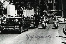 HUGH AYNESWORTH Signed Photo JFK JOHN F KENNEDY ASSASSINATION REPORTER COA