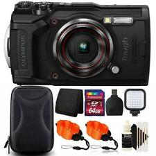 Olympus Tough TG-6 Digital Camera Black + 64GB Card + Accessory Kit