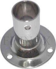 Embase / Platine Ronde 25mm Droite 90° inox 316