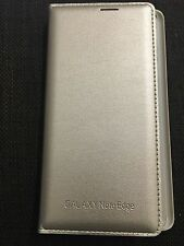 BRAND NEW SAMSUNG GALAXY NOTE EDGE SM-N915 FLIP WALLET COVER CASE SLIM GOLD