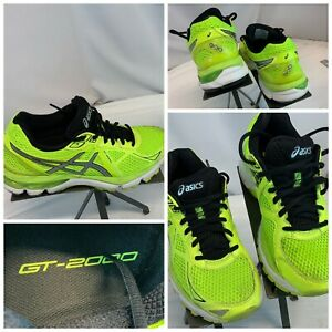 Asics Gel GT-2000 sz 7 Women Yellow Neon Running Shoes EUC YGI L0S-36