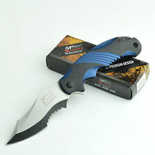 MTech Extreme 440C Assisted Opening Black/Blue Handle Tactical Knife MX-A801BL