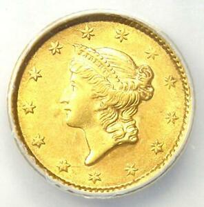 1853 Liberty Gold Dollar G$1 - Certified ANACS AU55 - Rare Early Coin!