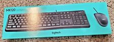 LOGITECH MK120 OPTICAL WIRED KEYBOARD & MOUSE COMBO, BLACK, BRAND NEW IN BOX