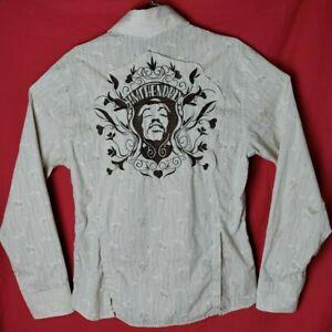 Jimmy Hendrix Men M The Purple Label Long Sleeve beige Button Down Shirt