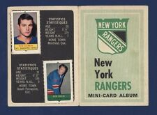 1969-70 O-Pee-Chee MINI-CARD ALBUM Rangers (with 6 stamps) COMPLETED !!