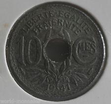 10 centimes lindauer zinc 1941 type B : TB : pièce de monnaie française