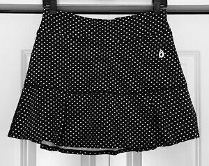 """NWOT Women's  DONA JO JoJo Skirt (Black Polka Dot) 14.5"""" Size 2 (L)"""