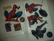 SPIDER-MAN WALL DECALS 10 Classic Comic Spiderman Marvel Decor