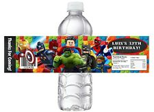 LEGO SUPERHEROES Super heroes BIRTHDAY PARTY FAVORS WATER BOTTLE LABELS WRAPPERS