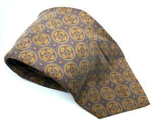 "POLO Ralph Lauren Men's Tie Grey Geometric 100% Silk Width 3.75"" Length 59"""
