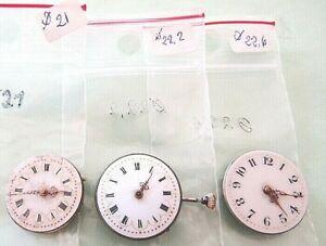 2  Mécanismes gousset   (21-22,2) et 1 montre bracelet ( 22,6 mm) à réviser