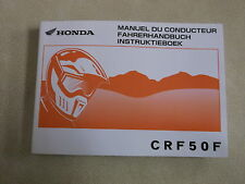 GENUINE HONDA CRF50 OWNERS MANUAL IN FRENCH AND GERMAN