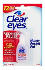 Clear Eyes Redness Relief Eye Drops burning dryness 0.2 FL OZ (6 ml) EXP (2022)