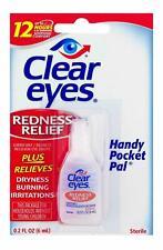 Clear Eyes Redness Relief Eye Drops burning dryness 0.2 FL OZ (6 ml) EXP (2021)