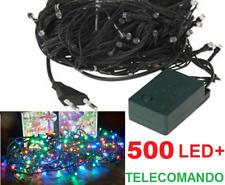 Serie 500 led multicolor.Natale,albero,luci multicolore,colore filo verde, 400 L