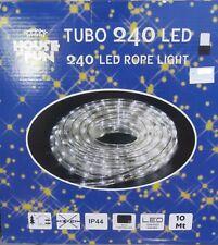 TUBE LUMINEUX 240 LED COULEUR BLANCHE LUMIÈRES NOËL X EXTÉRIEUR 10MT CN JEUX