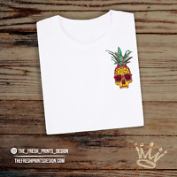 Pineapple Skull T Shirt Tumblr Hipster Unisex Gift Festival Edgy Skater Vegan