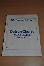 Werkstatthandbuch Wartungsanleitung Nissan Datsun Cherry Modell N10 Motor E 1981