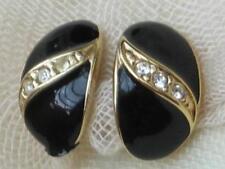 Enamel Earring Vintage Costume Jewellery (1980s)
