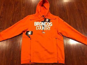 Nike Men's Denver Broncos Player Sideline Local Lockup Hoodie Sweatshirt Large L