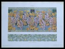 DECOR FLORAL ART NOUVEAU -1910- PHOTOLITHOGRAPHIE, FERRUCCIO SCANDELLARI, FLEURS