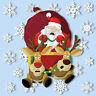 Crashing Santa Window Cling + 28 Snowflakes Stickers Static Christmas Decoration