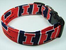 Charming Handmade University of Illinois Dog Collar Medium