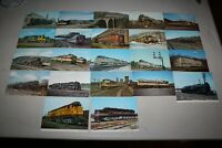 Vintage postcard collection of Locomotives and trains as a lot of 22