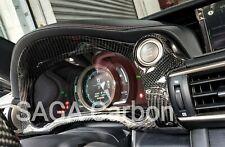Fits Lexus RC  RCF 2018~ON Real CARBON FIBERDashboard Gauge Cluster/Cap LHD