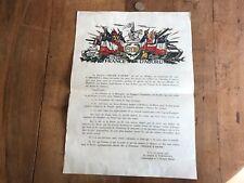 papier ancien militaire numéro 19 affiche 5eme db france d abord