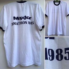 Vintage 80s Ringer Tee Maxtor Jogathon 1985 T-Shirt 1980s T-Shirt