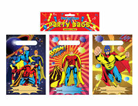 12 Super Hero Empty Party Bags - Toy Loot Gift Wedding/Kids Plastic