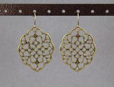 teardrop earrings filigree dangle scroll oval medallion cut out moroccan big