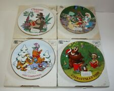 DISNEY Grolier Christmas Holiday PLATE LOT 1995-98 Pooh ALICE Jungle Book IN BOX