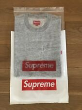 Supreme Pocket té t-shirt S/s SZ Medium Heather Grey fw17 deadstock Nasty Nas