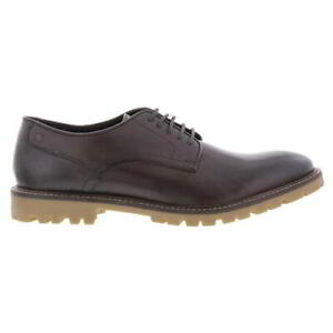 Base London Bunker Mens Brown Leather Lace Up Shoes Size UK 6-12