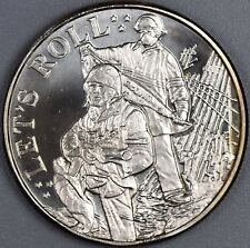 Let's Roll Land of the Free Home of the Brace .999 Fine 1 oz Silver Round
