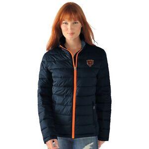 Chicago Bears Womens Full Zip Jacket Packable Polyfill Fair Catch by G-III