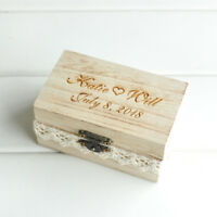 Personalised Wedding Ring Bearer Box Rustic Ring Box Rustic Wedding Ring Box