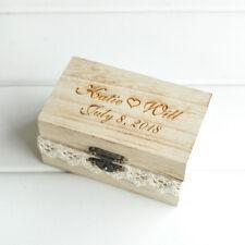 Rustic Wedding Ring Box, Personalised Wedding Ring Bearer Box Rustic Ring Box