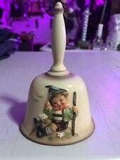 """Hummel Annual Bell 1984 #706 """"Mountaineer"""" Porcelain Painted Goebel 6� Vtg"""