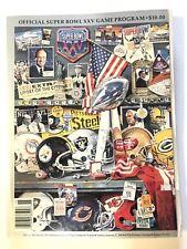 Super Bowl XXV 25 Program 1/27/1991 - Good Condition