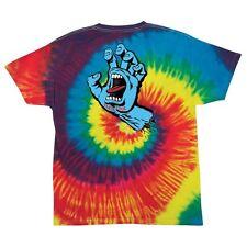 Santa Cruz SCREAMING HAND Skateboard T Shirt TIE DYE MEDIUM